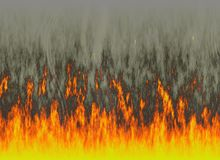 Red flame of fire with smoke. Backgrounds Royalty Free Stock Photo