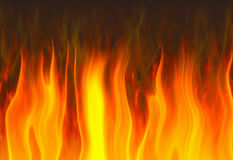 Red flame of fire Royalty Free Stock Photography