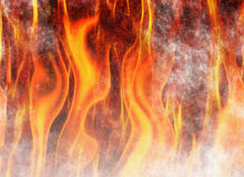 Red flame fire texture backgrounds Royalty Free Stock Image