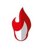 Red flame icon. Fire design. Vector graphic. Fire concept represented by red flame icon. isolated and flat illustration Stock Image