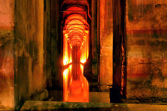 Red flame passage Stock Photos