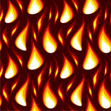 Red flame seamless background Stock Images