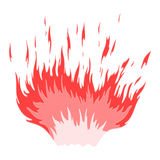 Red flame Royalty Free Stock Photography