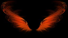 Red flame wings Stock Image