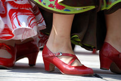 Red flamenco shoes Royalty Free Stock Photo