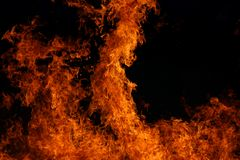 Red Flames. Veldt fire that got out of hand stock photos