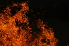Red Flames. Veldt fire that got out of hand royalty free stock images
