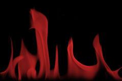 Red flames. Close shot of fire flames from a fireplace Stock Photos