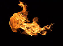 Red flames Royalty Free Stock Images