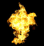 The red flames Stock Photography