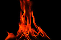 Red flames on black background,abstract Royalty Free Stock Image