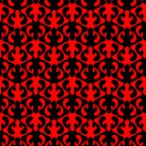 Red Flames Hell Seamless Pattern Background. Black and red flames graphical waving lines patterns. Seamless texture background Royalty Free Stock Image