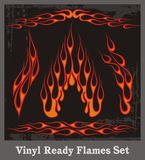 Red Flames Set. A set of red flame vehicle graphics, great for stickers and decals Royalty Free Stock Image