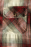 Red flannel shirt pocket Royalty Free Stock Image
