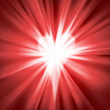 Red flare with a heart Stock Images