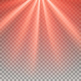 Red flare rays Royalty Free Stock Images