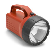 Red Flash Light. Heavy Duty Flash Light Isolated on a White Background Royalty Free Stock Images