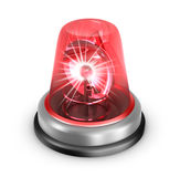 Red flasher icon. Isolated on white. Red flasher icon. 3d image isolated on white Royalty Free Stock Image