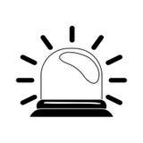 Red flashing alarm. Icon  illustration graphic design Royalty Free Stock Image