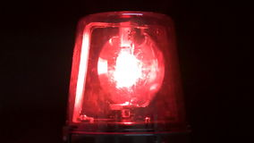 Red Flashing Emergency Light stock footage