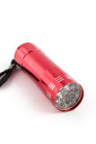 Red flashlight Royalty Free Stock Images