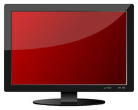 Red Flat Screen TV Set Stock Image