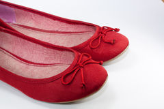 Red flat shoes Royalty Free Stock Photography