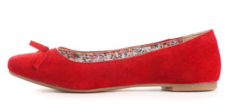 Red flat shoes Stock Image