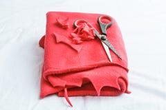 Red fleece Stock Photos