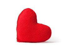 Red fleece heart Royalty Free Stock Images