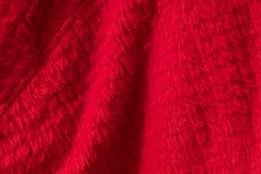 Red fleece material Royalty Free Stock Image