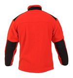 Red fleece sport jacket Royalty Free Stock Images