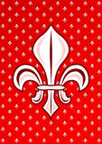 Red Fleur de Lys Royalty Symbol. Fleur de Lys royalty symbol commonly used on french medieval times Stock Photography
