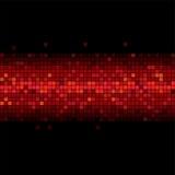 Red flicker in the black vector illustration