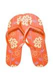 Red flip flops Stock Images