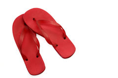 Red Flip Flops royalty free stock photos