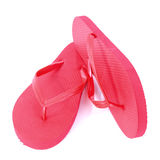 Red flip flops Stock Photography