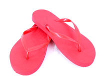 Red flip flops Royalty Free Stock Photo