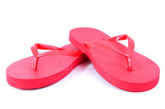 Red flip flops Royalty Free Stock Image