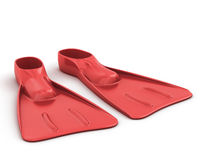 Red flippers close-up Royalty Free Stock Photography