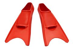 Red flippers isolated Royalty Free Stock Image