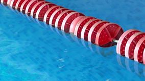 Red float line in pool stock video footage