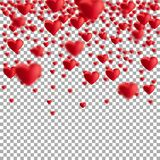 Red floating hearts Royalty Free Stock Photos