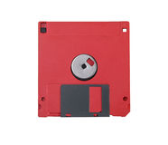 Red floppy disc. Isolated om white background Stock Images