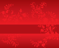 Red Floral Stock Images