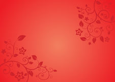 Red floral Royalty Free Stock Photo