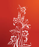 Red floral royalty free illustration