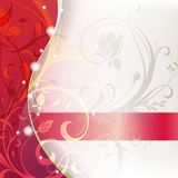 Red Floral Abstract Royalty Free Stock Images