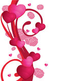 Red floral background. For valentine, romance, weddings, designs and others stock illustration