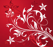 Red floral background Royalty Free Stock Photography